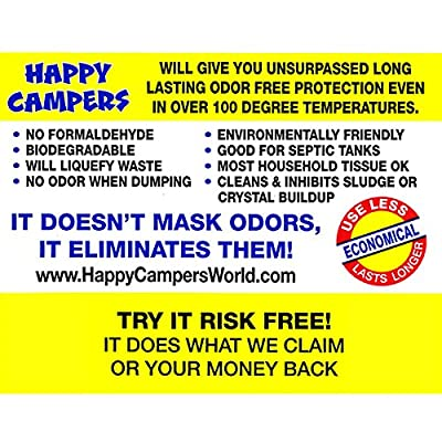 Happy Campers Organic RV Holding Tank Treatment - 130 Treatments: Automotive