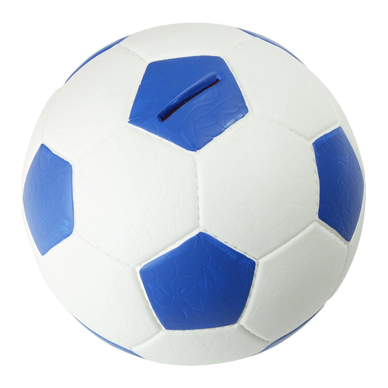 HMF 4790-01 Soldi Salvadanaio, Pallone da Calcio In Pelle Sintetica, 15 cm , Verde Bianco