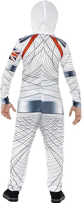 impressio Smiffys Costume astronaute Deluxe Blanc avec combinaison-pantalon et coiffe