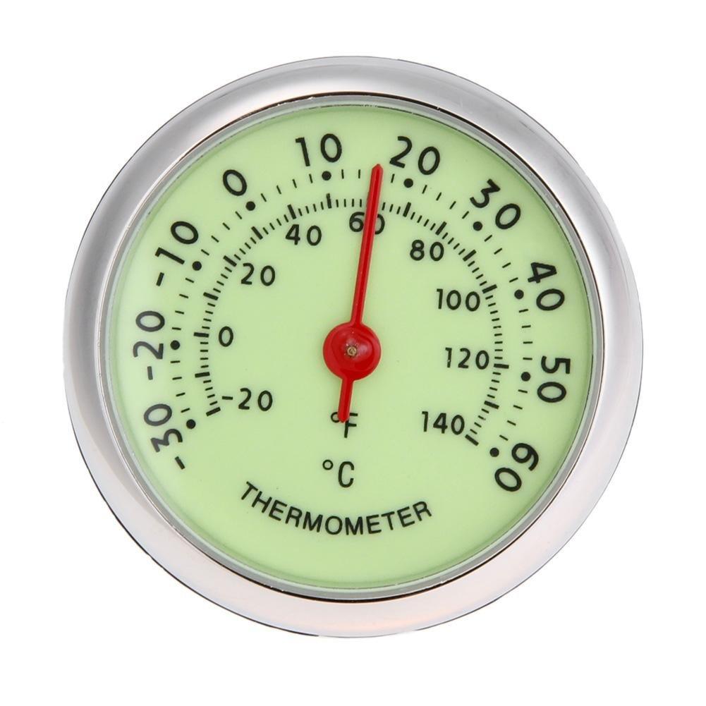 WinnerEco Universal Fluorescent Car Auto Analog Thermometer ℃/℉ Temperature Meter