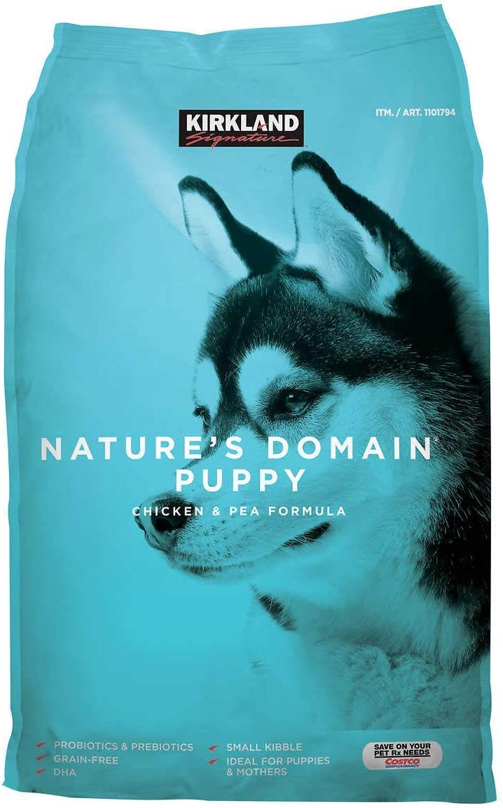 Kirkland Signature Nature's Domain Puppy Formula Chicken Pea Dog Food 20 lb.