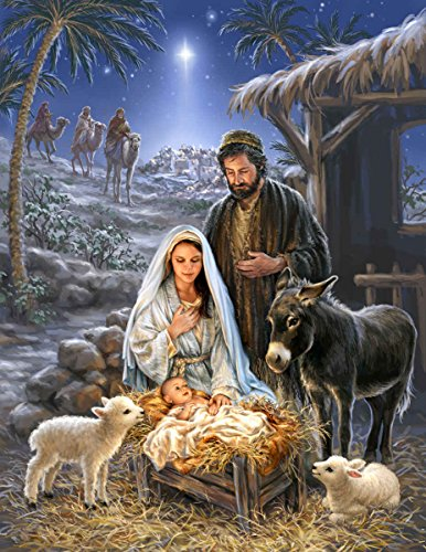 Springbok Puzzles - Savior is Born - 1000 Piece Jigsaw Puzzle - Large 24 Inches by 30 Inches Puzzle - Made in USA - Unique Cut Interlocking Pieces