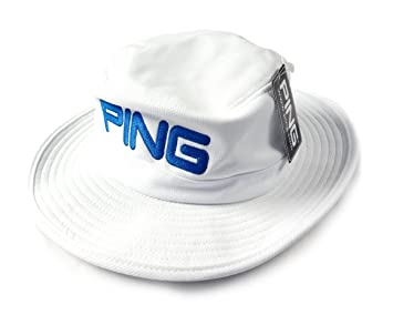 NEW Ping Classic White Blue Boonie Fitted S M Hat Cap 8caaab41b60