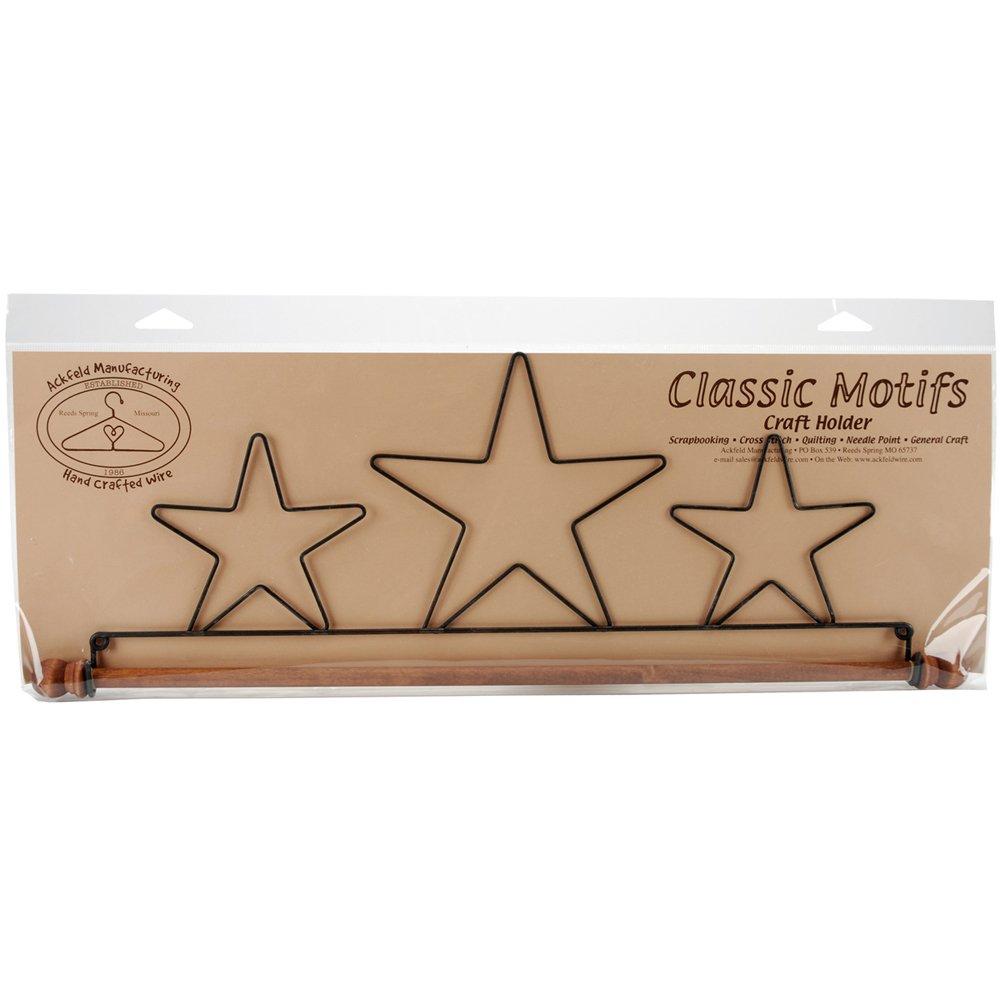 Ackfeld Fabric Holder with 16-Inch Dowel, Three Stars 86307