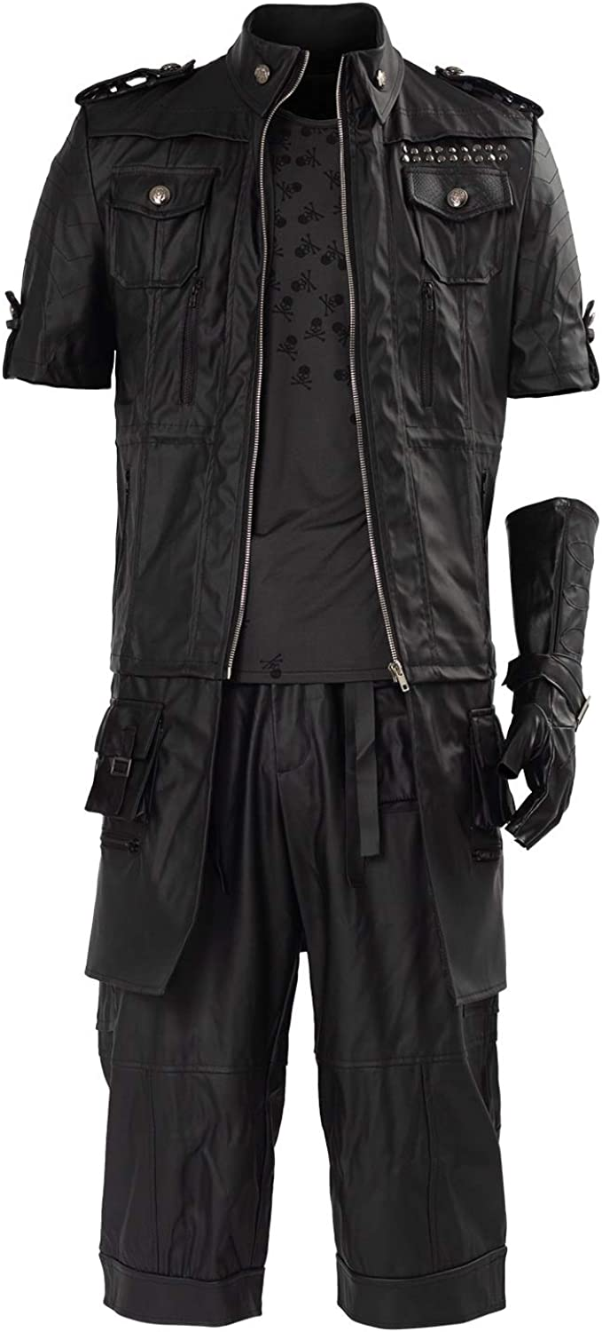 SIDNOR Final Fantasy FF15 XV Noctis Lucis Caelum Noct Jacket Hoodie Cosplay Costume Outfit: Clothing
