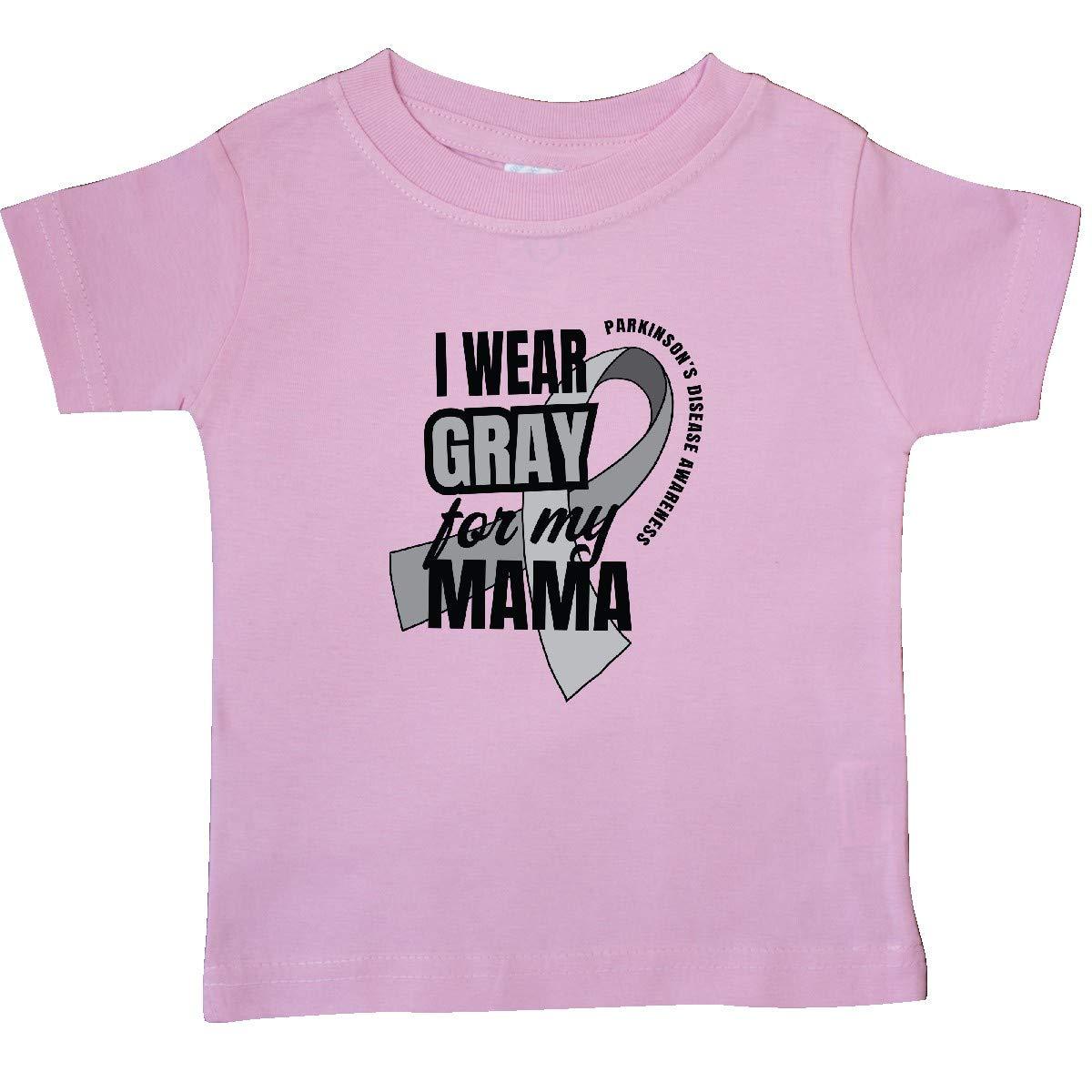 inktastic I Wear Gray for My Mama Parkinsons Disease Awareness Baby T-Shirt