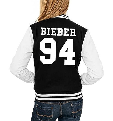 Bieber 94 College Vest Girls Negro