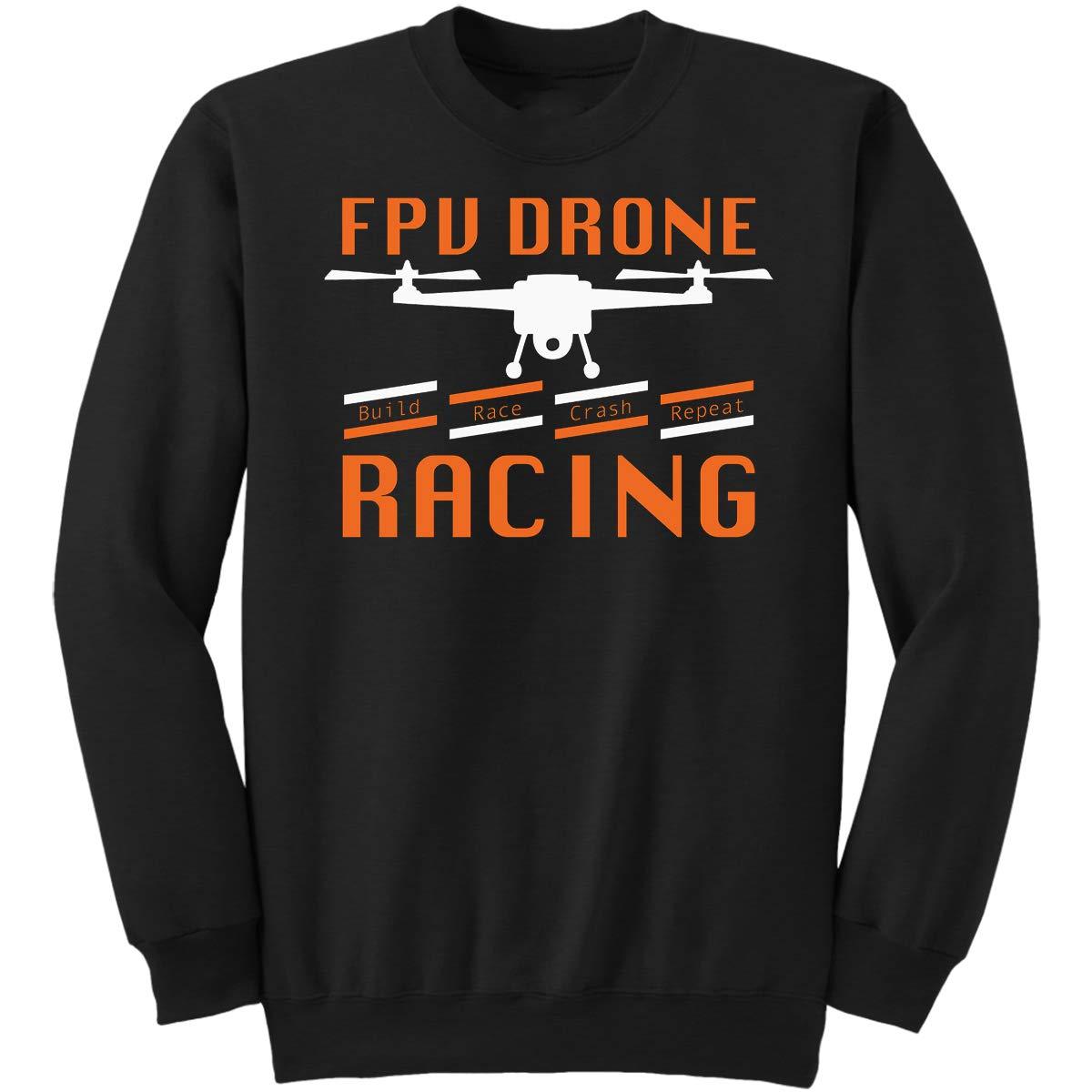DoozyGifts99 Build Race Crash Repeat Quad Copter DRO Sweatshirt