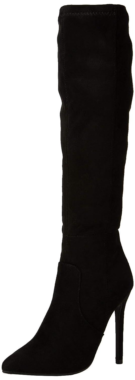 136703f9f9dc Lost Ink Women s Sasha Plain Stiletto Knee High Boots  Amazon.co.uk  Shoes    Bags
