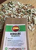 Verdure per soffritto - cipolla sedano carota - SENZA SALE aggiunto - SENZA AROMI ARTIFICIALI - SENZA CONSERVANTI - SENZA GLUTAMMATO 100% vegetali