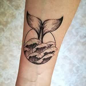 tzxdbh 5pcs Impermeable Etiqueta engomada del Tatuaje número ...