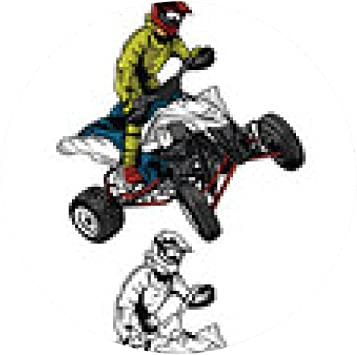 Tapis De Souris Caractere Atv Moto Dessin Anime Rider Livre De Coloriage Amazon Fr High Tech