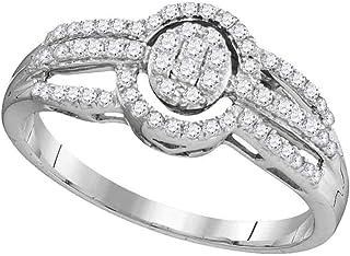 Jewels By Lux Anello a Triplo Anello a grappolo Ovale incorniciato per Donne