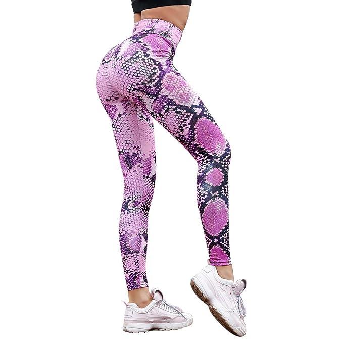 Pantalones de Yoga para Mujer Verano Mujer Fitness Serpiente ...