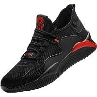 Zapatos de Seguridad Hombre Mujer Punta de Acero Zapatos Legero Zapatos de Trabajo Antideslizante Transpirable Zapatos…