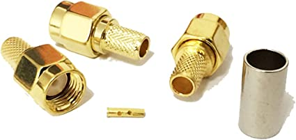 """10pcs BNC Male to SMA Male Plug pigtail RG174 Coax 6/"""" RF coaxial cable"""