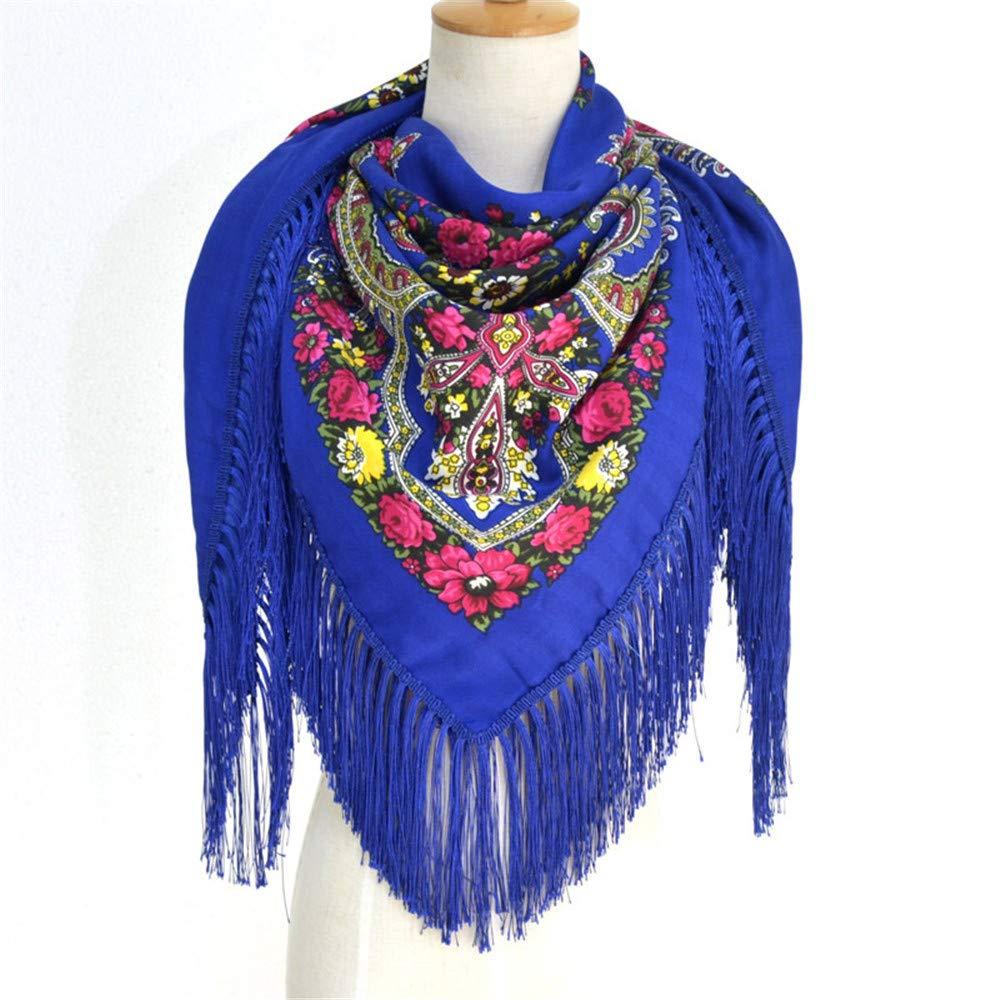 AiNaMei Bufanda con flecos cálidos de otoño e invierno para mujer