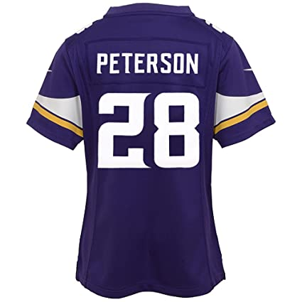 80069eb80ae Image Unavailable. Image not available for. Color  Nike Adrian Peterson  Minnesota Vikings Home Purple Jersey ...