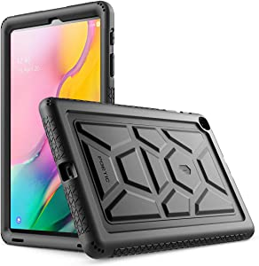 Galaxy Tab A 10.1 Case, Model SM-T510/T515 2019 Release, Poetic Heavy Duty Shockproof Kids Friendly Silicone Case Cover,TurtleSkin Series, for Samsung Galaxy Tab A Tablet 10.1 Inch (2019), Black