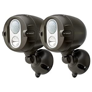 Mr Beams MBN352 Networked LED Wireless Motion Sensing Spotlight System with NetBright Technology, 200-Lumens, Brown, 2-Pack