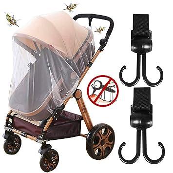 c04cdd8eb6 Universal Insektenschutz und Kinderwagen Haken, Mückennetz für Kinderwagen,  Buggy, Reisebett, Idealer Schutz