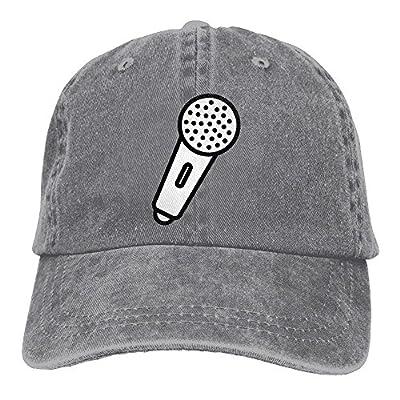 HAIRUIYD Microphone Baseball Cap Boys Girls Creative Snapback Hip Hop Flat Hat Adjustable One Size