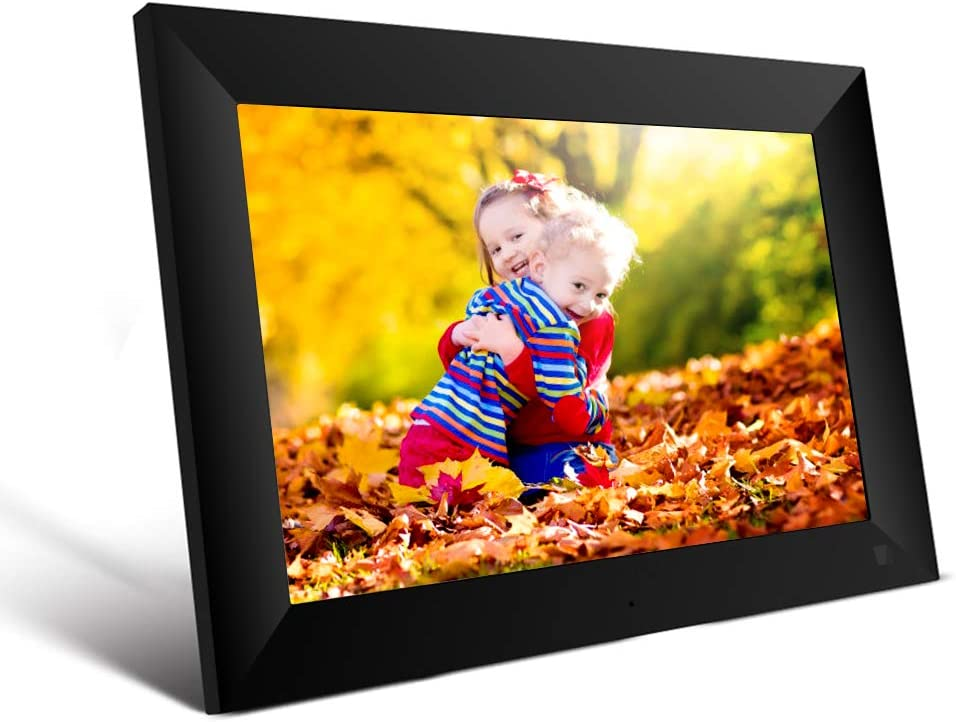 Scishion 10.1 Inch 16GB WiFi Digital Photo Frame with HD IPS Display Touch Screen Share Moments Instantly via Frameo App from Anywhere