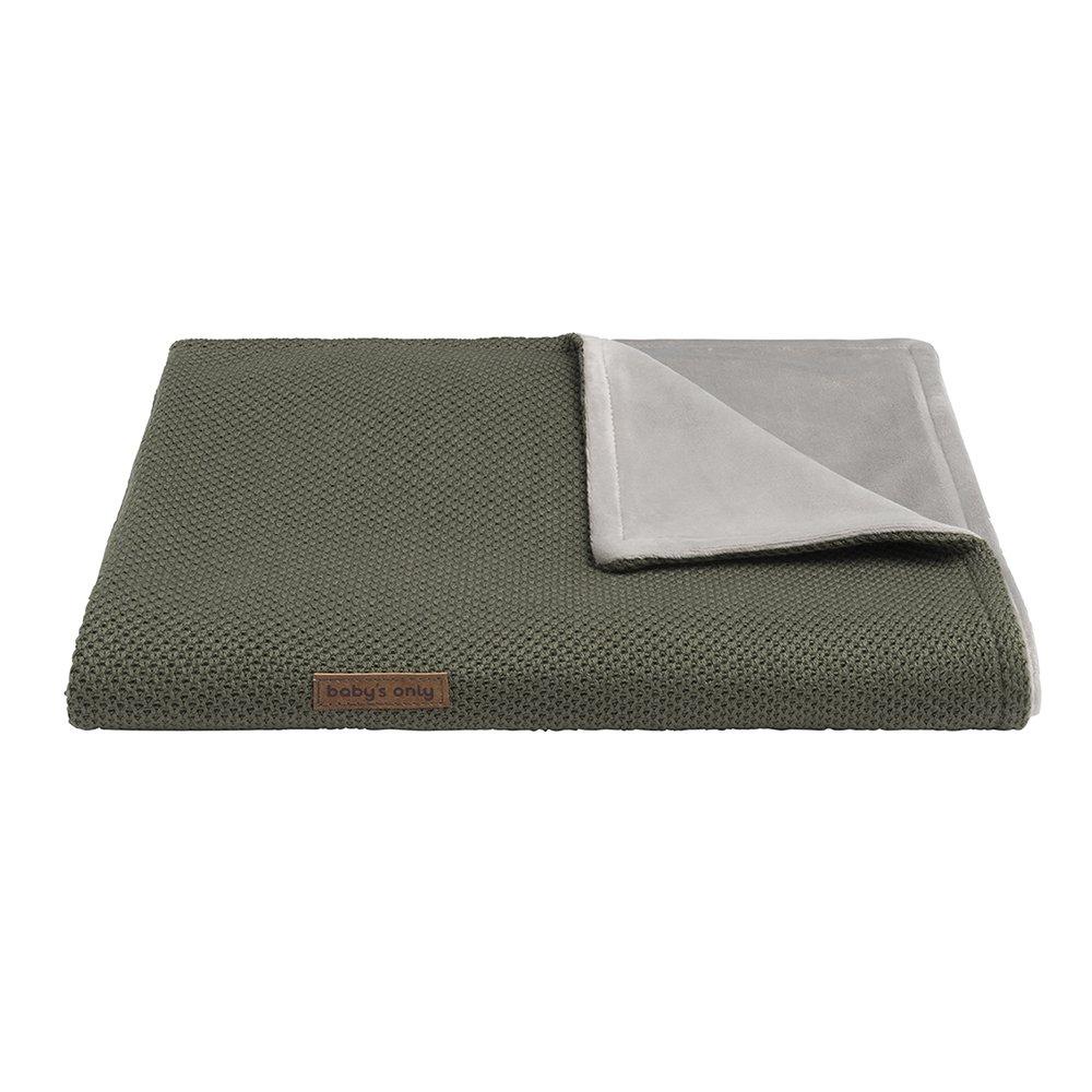 Baby's Only Hochwertige Babydecke für Jungen und Mädchen - ideal als Bett-Decke, Kinderwagendecke sowie Kuscheldecke geeignet - 95 x 70 cm - Grün