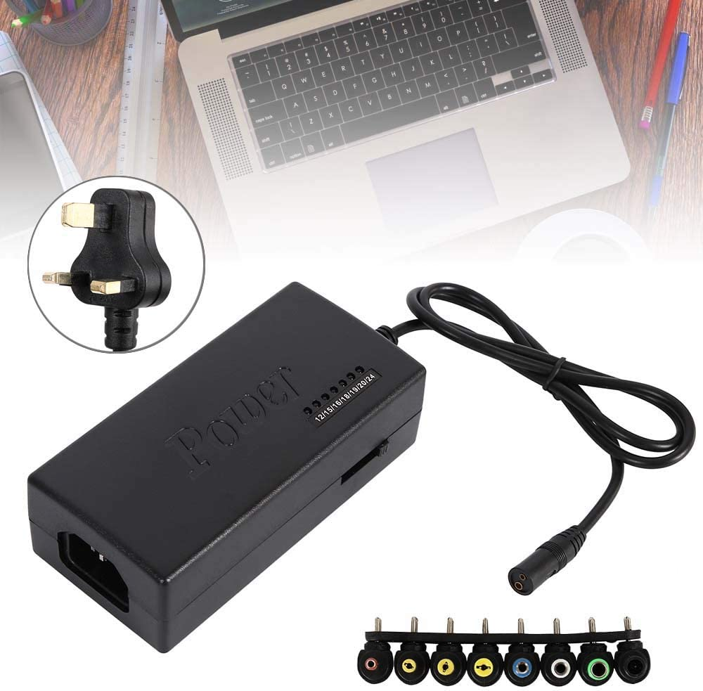 96W AC DC Adapter Switching Power Supply with 8 Tips Universal Multi Voltage Laptop Power Charger Adapters Converter Tips Plug 12//15//16//18//19//20//24V