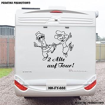 2 Alte Auf Tour Aufkleber Größe 60 Cm Für Wohnmobil Wohnwagen Womo Wowa Caravan Lustige Sprüche Lustiger Spruch Von Pegatina Promotion
