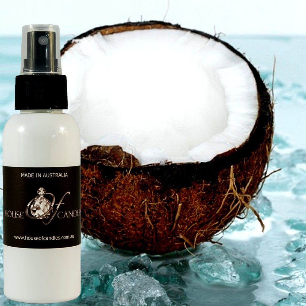 Fresh Coconut Car Air Freshener Spray/Deodoriser Mist XSTRONG 50ml/1.7oz Vegan & Cruelty Free House Of Candles