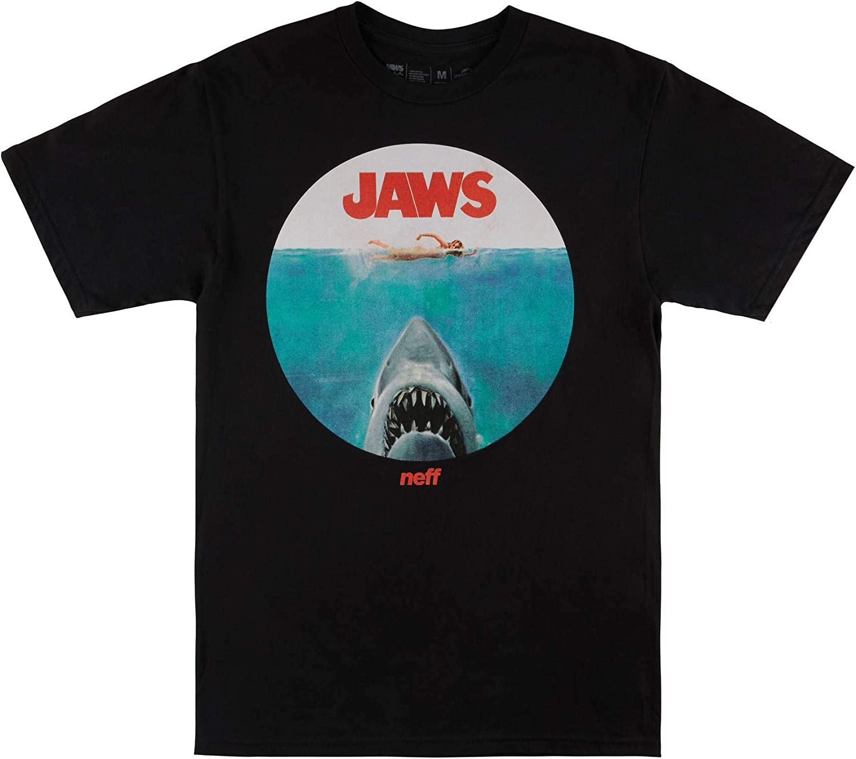 NEFF Men's Jaws Shark Logo Lock Up Graphic Tee