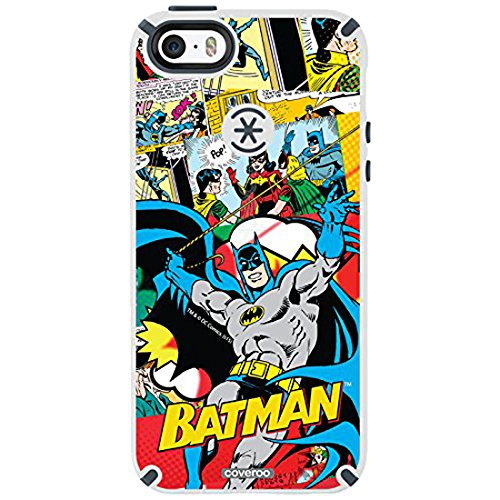Coveroo Batman Designs on White iPhone 5s/5 CandyShell Case with Faceplate by Speck - Retail Packaging at Gotham City Store