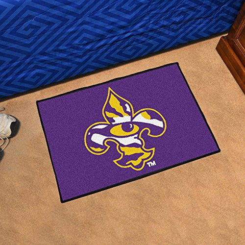 (NCAA Louisiana State University Sports Team Logo Nylon Fleur-De-Lis Starter Rug 19