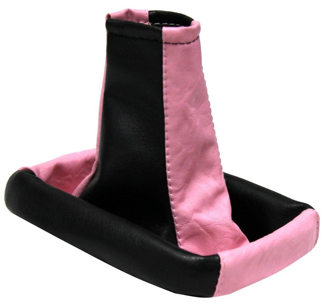 Aerzetix - Cuffia leva cambio fatto di pelle sintetica rosa/nero