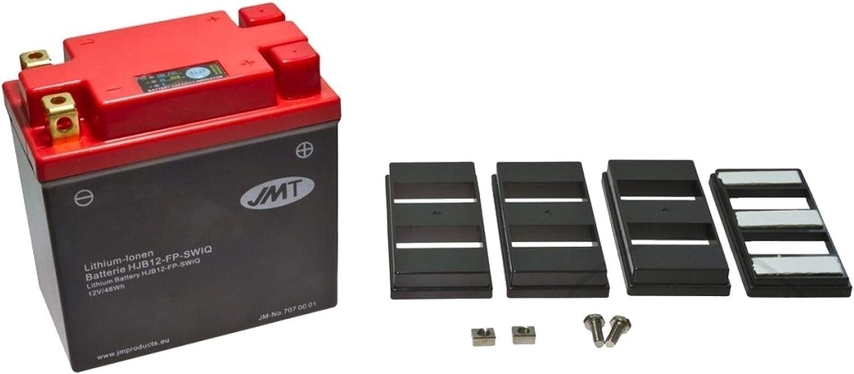 JMT HJB12-FP - Batería de litio para moto XBR 500 S (año de fabricación 1987-1989)