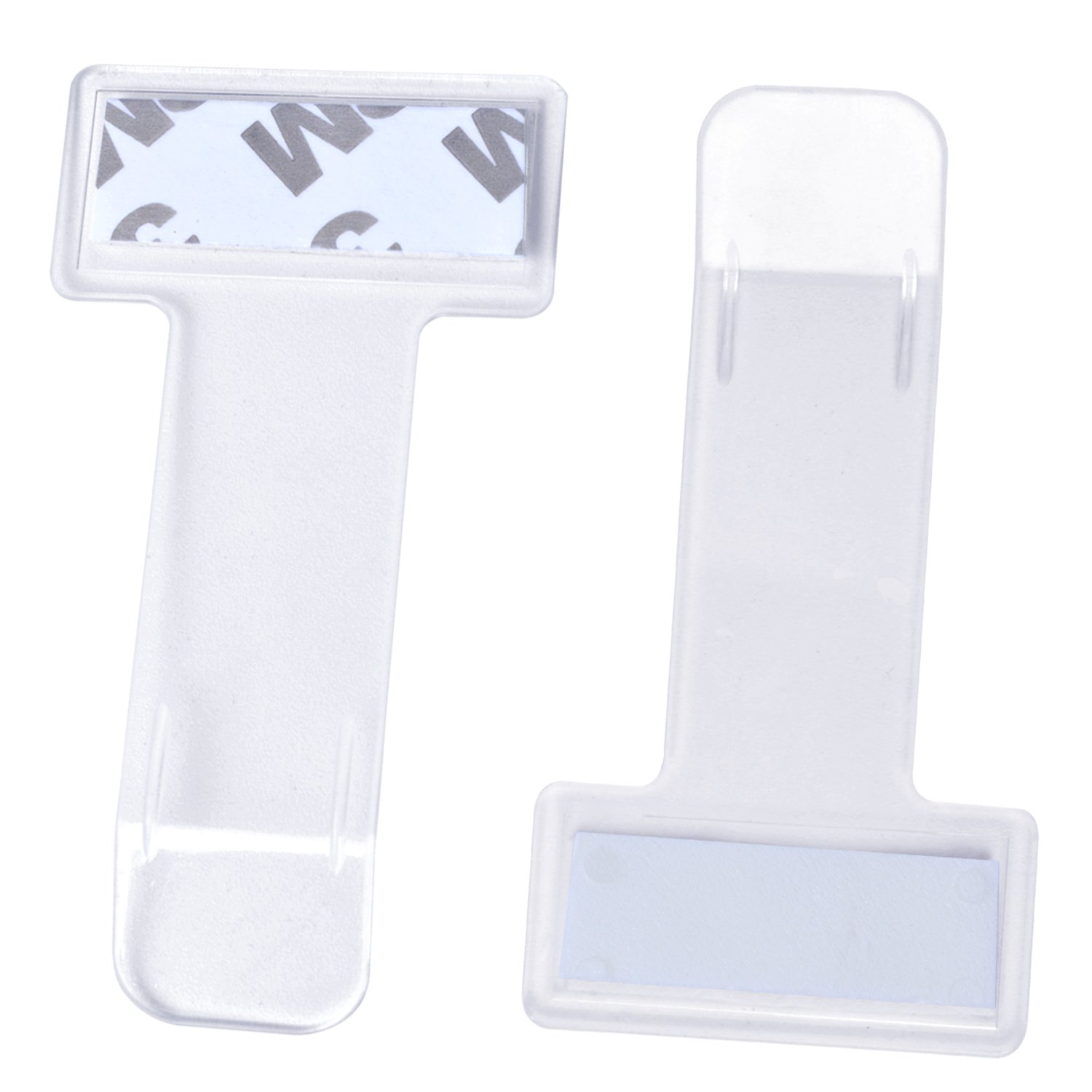 euhuton 10pcs Parking Permit Holders ID Badge Holders Clear Plastic Pocket Pouches for Car Windscreen 2 Sizes