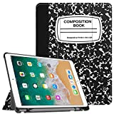 Fintie iPad Pro 10.5 Case with Built-in Apple Pencil Holder - [SlimShell] Ultra Lightweight Standing Protective Cover with Auto Wake / Sleep for Apple iPad Pro 10.5 2017 Tablet, Composition Book Black