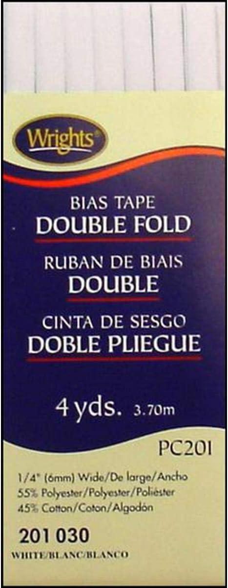 "Wrights Single Fold Bias Tape .5/""x4yd-yale"