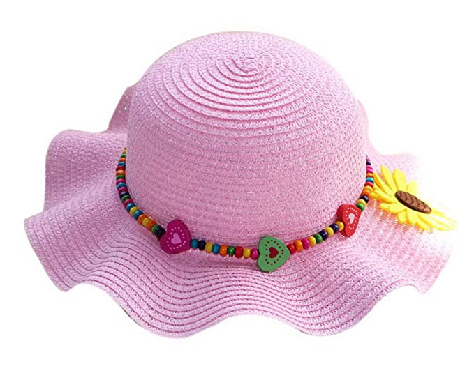 Amazon.com  Gentle Meow Children Beach Visor Hat Cute Little Girl ... e19cfb713