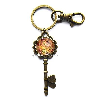 Fairytale Jewelry - Llavero con diseño de mapamundi y ...