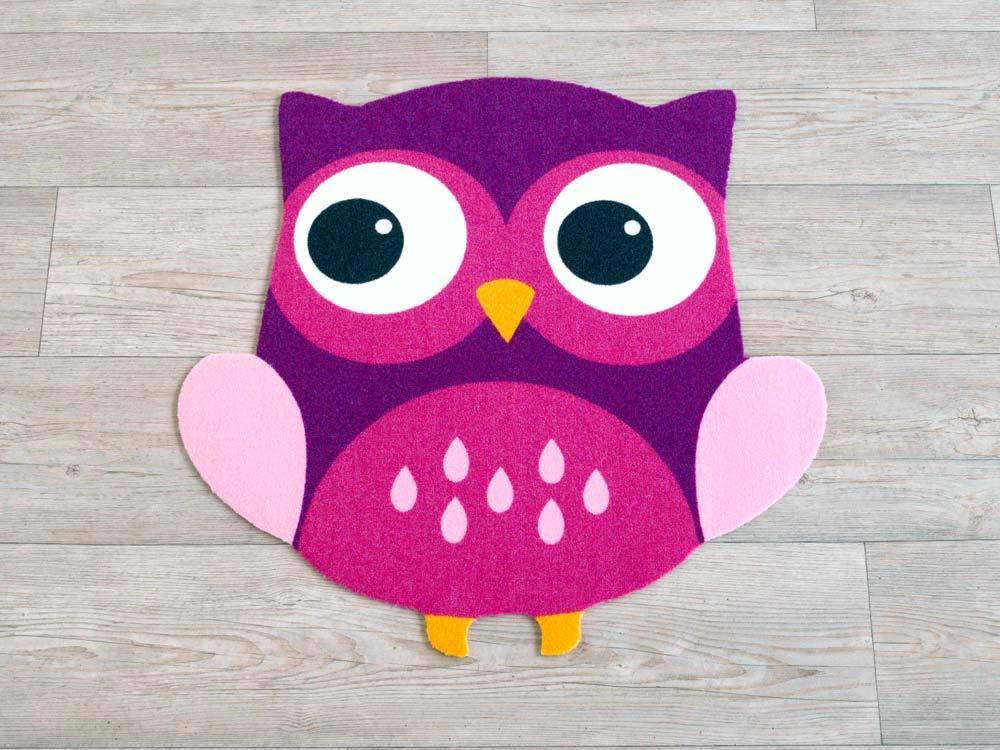 Zala Living 101832 Teppich Konturteppich, Polyamid, lila, 100 x 100 x 0,5 cm
