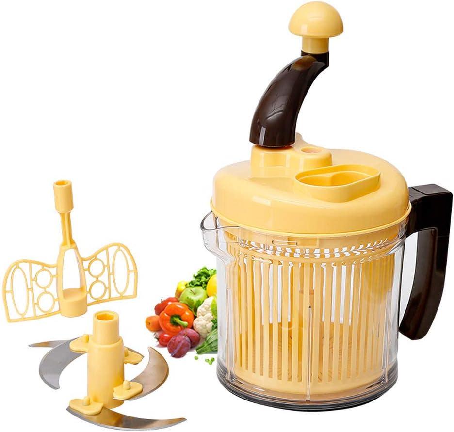 Round Spiral Vegetable Slicer Manual Multi-functional Vegetable Cutter Hand-cranked Portable Blender Food Chopper Kitchen Tools