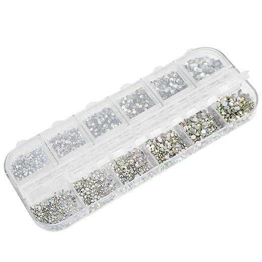 BUYGOO 2016 Piezas Diamantes de Cristal de Espalda Plano 1.5 mm 6.6 mm 6 Tama/ños Gemas de Cristal Redondas Transparente Diamantes de Imitaci/ón de Decoraci/ón Pedrer/ía para U/ñas//Coser