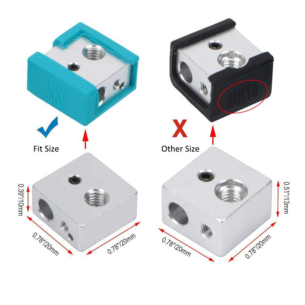 Ender 3 Silicone Sock MK8 MK9 Hotend for Creality CR-10 10S ANET A8 3D Printer Heater Block Cavabien