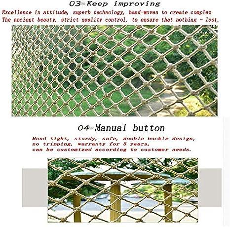 und Au/ßen Gel/änder Sicherheitsnetz Hang Net Zaun-Netz-Katze Netz h/ängende Kleidung Net Sicher und komfortabel ZHUYUE Kinder Treppen Balkon Sicherheitsnetz Kletterseil Retro Bar Dekoration Net Innen
