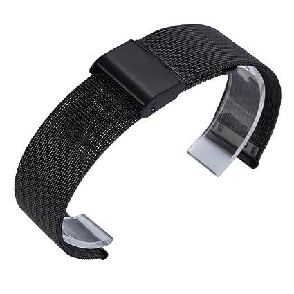 Zolimx Milanesa de Acero Inoxidable Pulsera Reloj Banda Correa para Xiaomi Huami Amazfit Bip Youth Smartwatch (Negro)