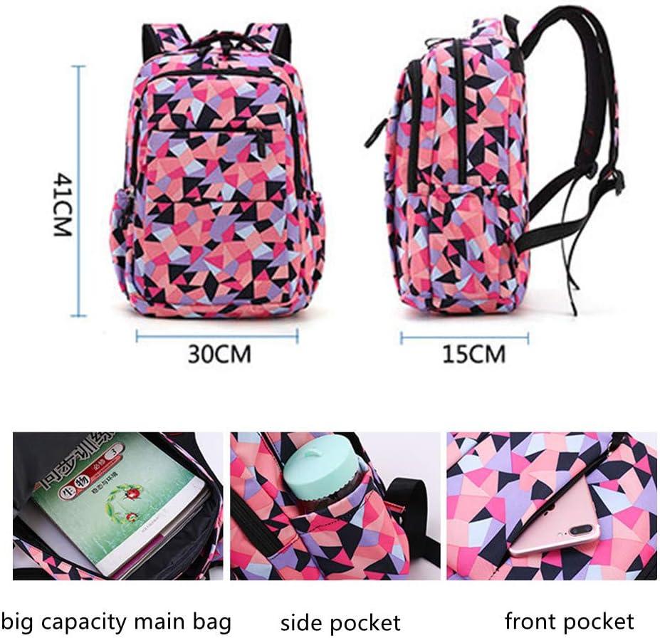 MITOWERMI Fashion Geometric Prints Primary School Student Backpack For Girls /&Boys Waterproof Kids Schoolbag Casual Daypack