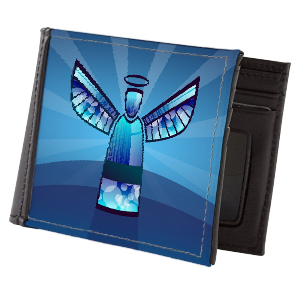 Truly Teague Mens Wallet Billfold Contemporary Abstract Stained Glass Angel