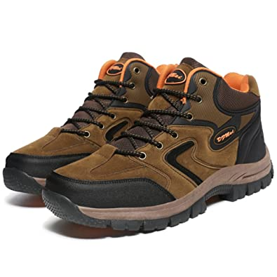 GOMNEAR Hiking Boots Mens Waterproof Antiskid Cushioning Trekking and Walking Shoes (US10=EUR45,